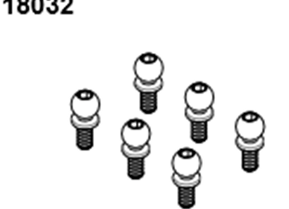 BLAZE18 Ball Head Screw M2.5 6p