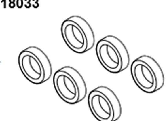 BLAZE18 Ball bearing 10*15*4 6p