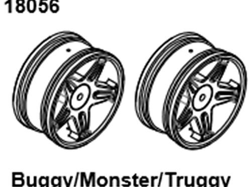 BLAZE18 Buggy/Monster/Truggy Wheel 2p