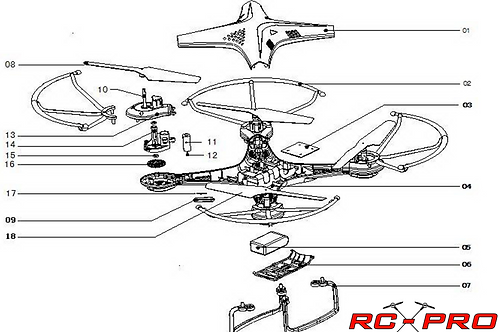PRO8 - Parts Diagram