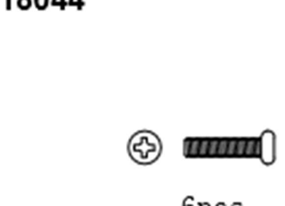 BLAZE18 Button Head Screws 2*6 6p