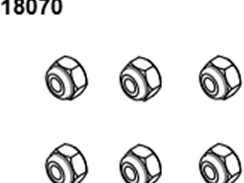 BLAZE18 Lock Nuts M3  6p
