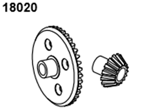 BLAZE18 Diff Gear 38/15T 2p
