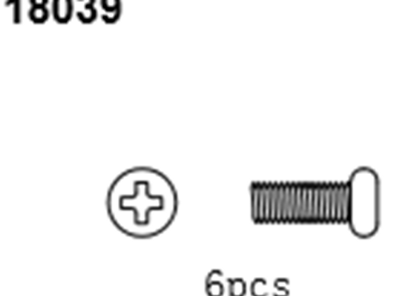 BLAZE18 Button Head Screws 2.6*4 6p
