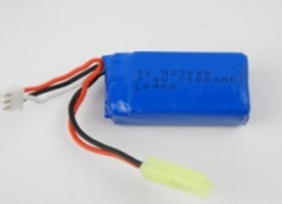 7.4V 1100mah lipo battery with low voltage protection