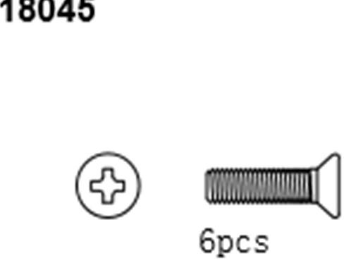 BLAZE18 Button Head Screws 2*8 6p