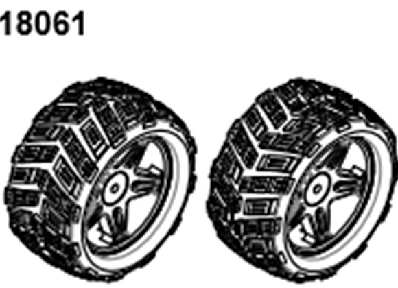 BLAZE18 Monster Tire Set  2p