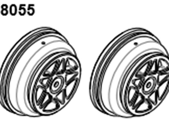 BLAZE18 Desert Buggy/Short Course Wheel  2p