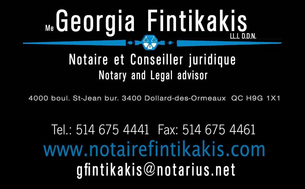 Me Georgia Fintikakis - Notary