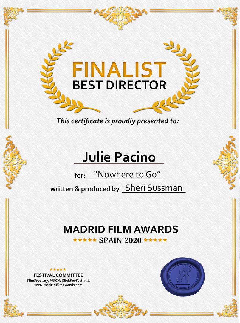 Finalist Digital Certificate