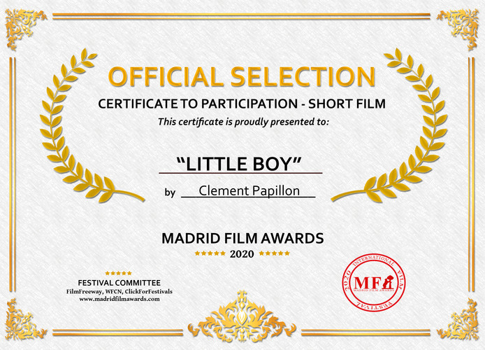Official Selection Digital Certificate