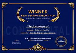 Winner Best 1 Minute Short Film