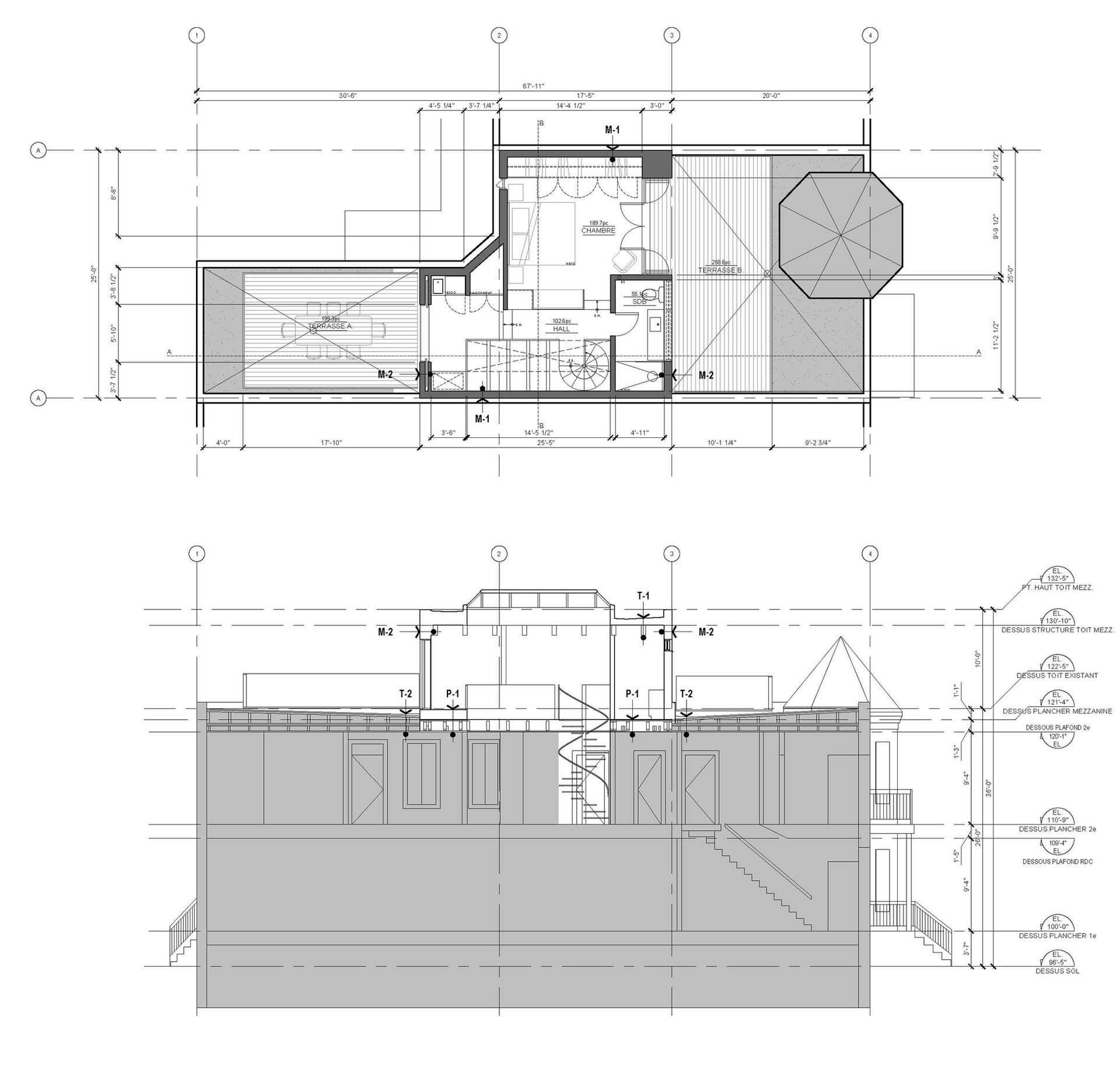 5686 Waverly architecture plan and secti
