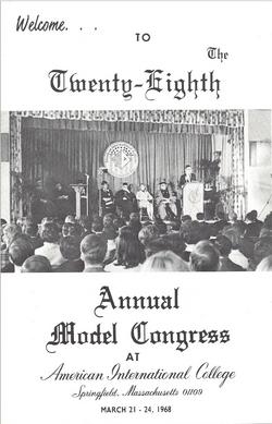28th Model Congress Program Cover