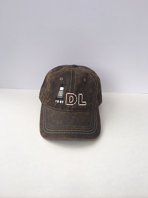 Drillers Life Port Authority Pigment Print Brown Distressed Cap