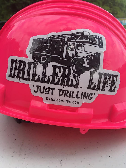 Driller's Life Rig Cut Out Sticker