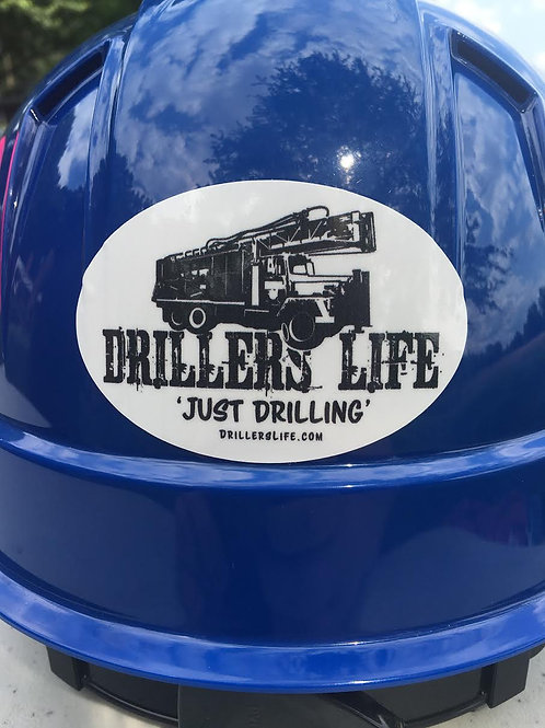 Driller's Life Rig Oval Sticker