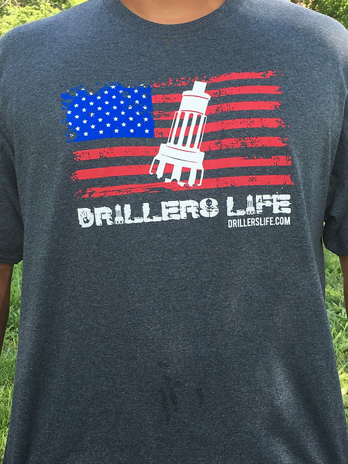 Driller's Life American Flag Shirt