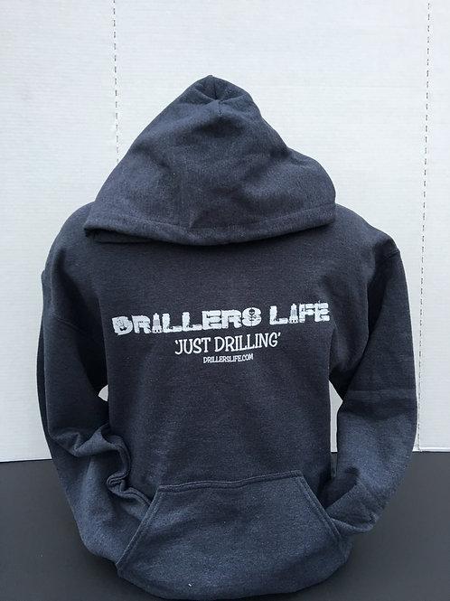 Drillers Life Logo Gray Hoodie