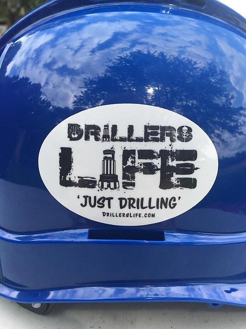 Driller's Life Logo Oval Hard Hat Sticker
