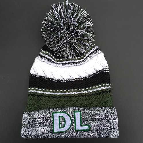 Drillers Life 'DL' Beanie Green and White