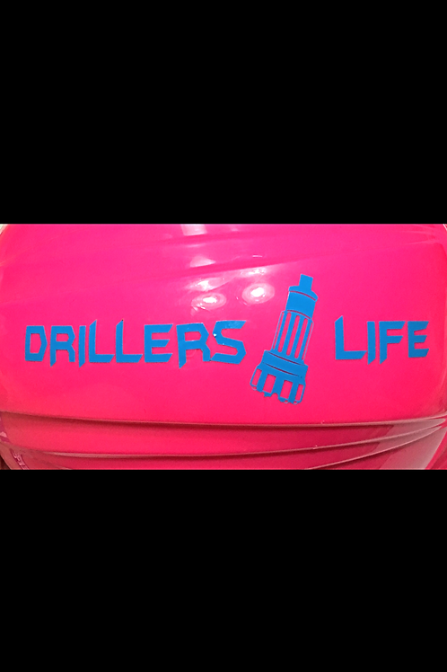 "Drillers Life Blue Vinyl 2""x6"" Signature Decal"