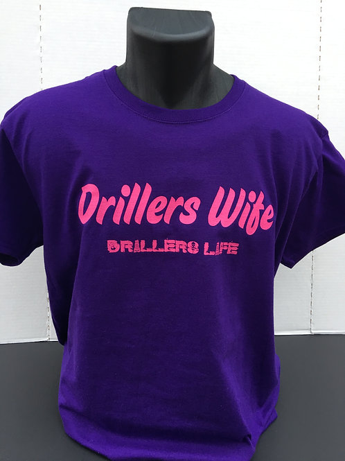 Drillers Life Drillers Wife Ladies Fitted DTH Bit Shirt