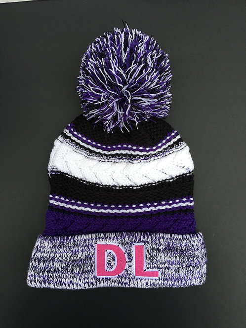 Drillers Life 'DL' Beanie Purple and White