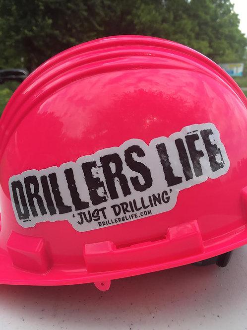 Driller's Life Cut Out Logo Sticker