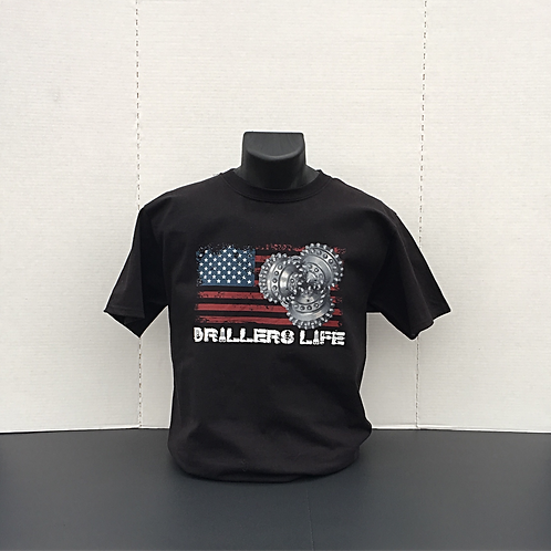 Drillers Life Roller Cone Flag Shirt