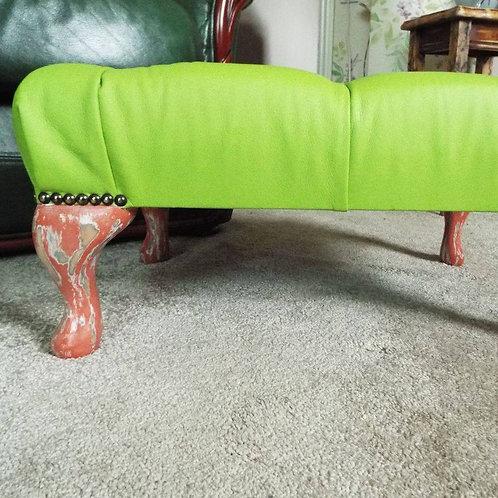 Lime Sorbet Vinyl Footstool