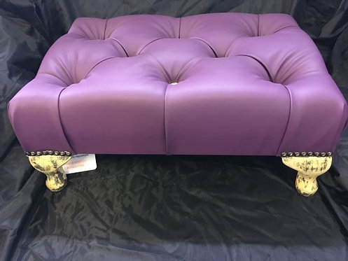 Purple Crush Vinyl Footstool