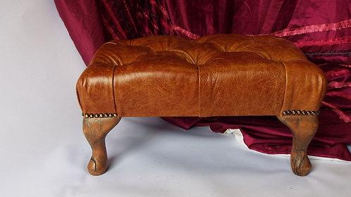 Lichtenberg Leather Footstool