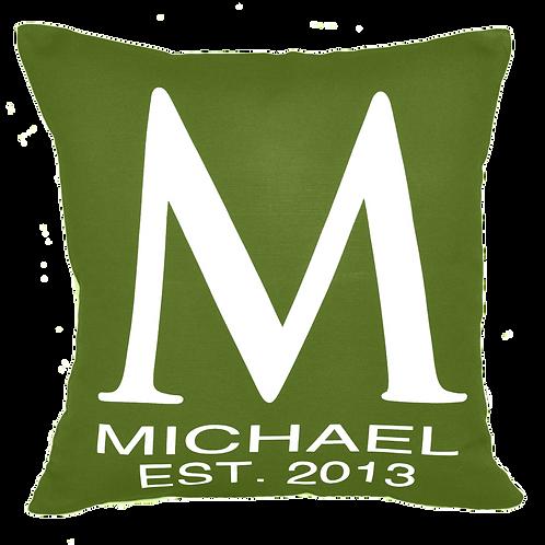 The Classic Monogram Initial Pillow