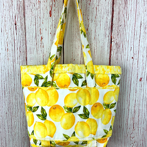 Lemon 6-Pocket Tote