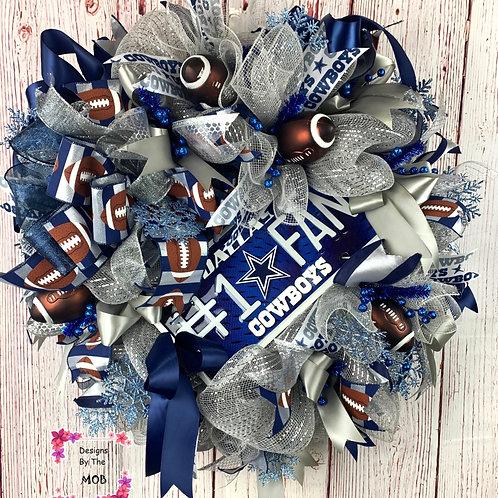 Dallas Cowboys Fan Wreath