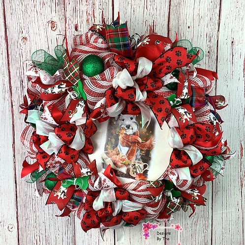 Happy Schnauzer Wreath