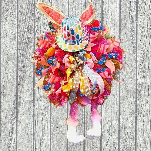 Hat Bunny Wreath