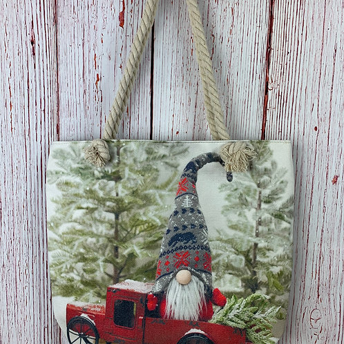 Gnome in a Red Truck Tote