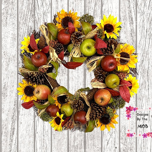Apples & Sunflowers Wreath