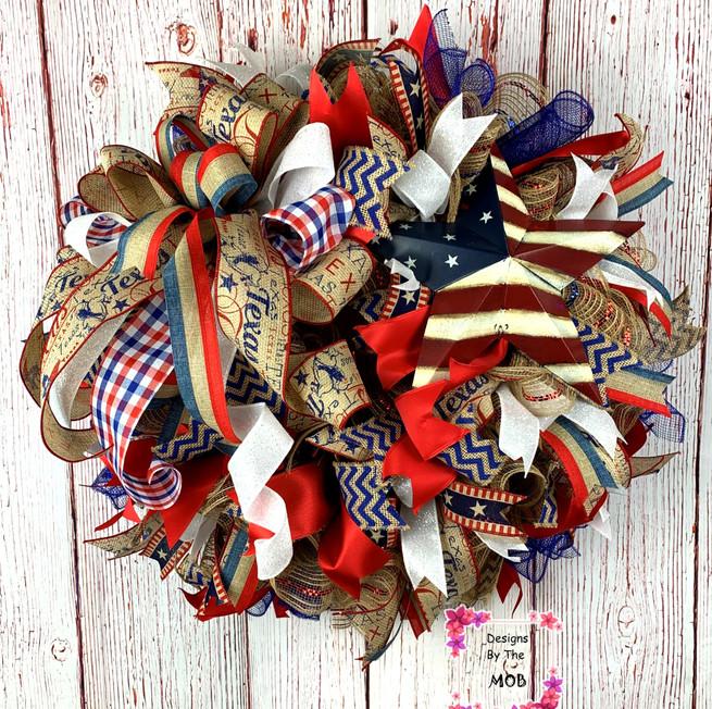 4th of july wreath, summer wreath