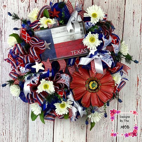 Texas Flag Wreath