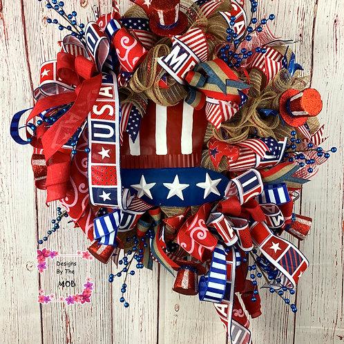 Uncle Sam Hat Wreath