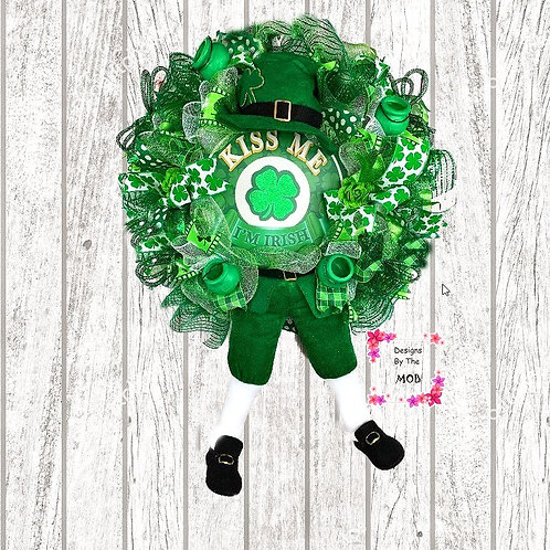 Kiss Me I'm Irish Wreath