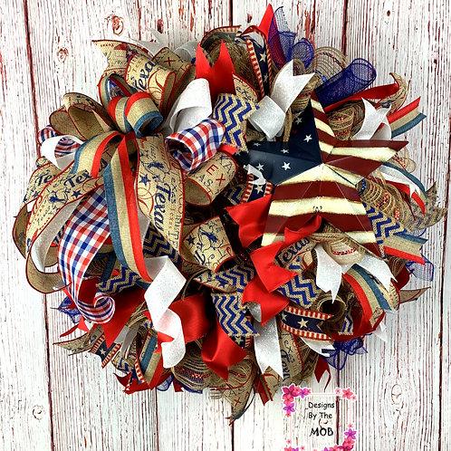 Texas Star Wreath