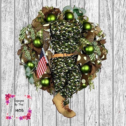 Military Man Wreath