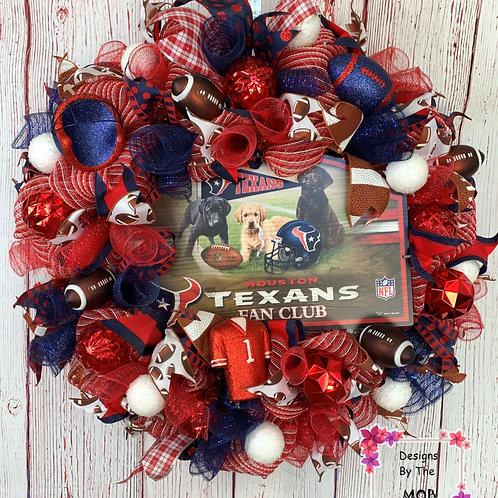 Texans Fan Wreath