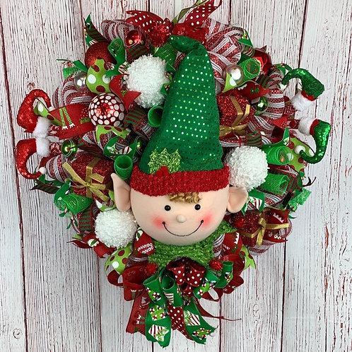 Elf Face Wreath