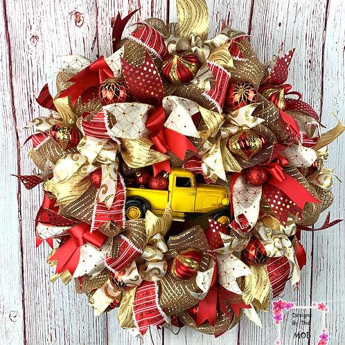 Yellow Truck Wreath
