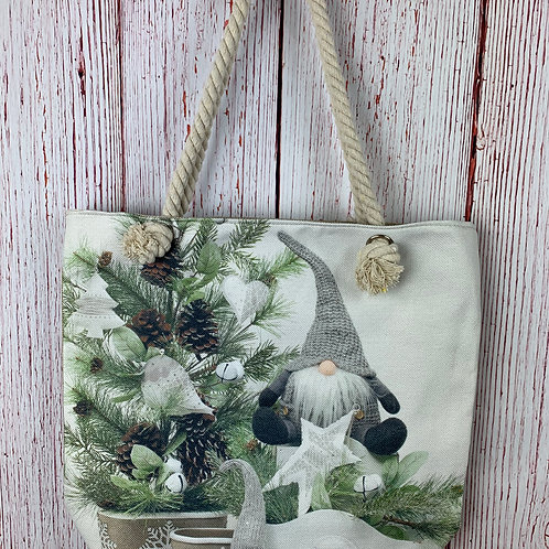 Gnome With a White Star Tote